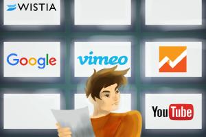 Analytics Comparison Between YouTube, Vimeo, Wistia, Google Analytics, and Marketing Automation