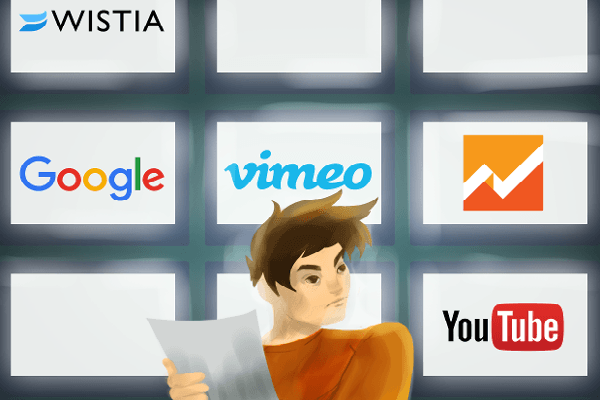 Analytics Comparison Between YouTube, Vimeo, Wistia, Google Analytics, and Marketing Automation